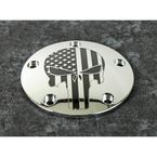 Chrome Black Stars and Stripes Punisher Timing Cover - PATR22-04