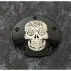 Black Sugar Skull Timing Cover - SSKUL-04BG
