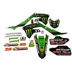 Green Race Team Graphics Kit - DK19450T
