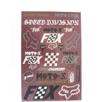 Cardinal Czar Track Pack Sticker Sheet - 23662-465-OS