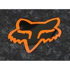 Black/Orange 7 in. Fox Head Sticker - 14901-016-OS
