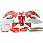 White Geico Complete Graphic Kit - 20-10-500
