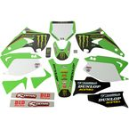 White Monster Energy Complete Graphic Kit - 20-20-500