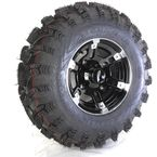 Front Right Machined Black 26X9-12 Slingshot Tire/Wheel Kit - 2014-011R