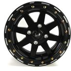 Black 14 x 7 Star Fighter Wheels - 985-30B