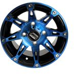 Front Blue/Black 387X 12x7 Wheel - 0230-0803