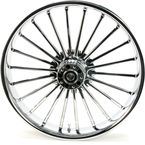 Front 21 in. x 3.5 in. One-Piece Illusion Forged Aluminum Wheel w/o ABS - 21350903114126C