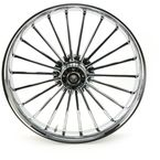 Front 23 in. x 3.75 in. One-Piece Illusion Forged Aluminum Wheel w/o ABS - 23375-9031-126C