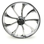 Front 21 in. x 3.5 in. One-Piece Illusion Forged Aluminum Wheel w/o ABS - 21350-9031-124C