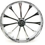 Front 23 in. x 3.75 in. One-Piece Exile Forged Aluminum Wheel w/o ABS - 23375-9031-122C
