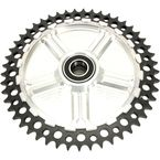Rear Cush Drive Chain Black 49 Tooth Sprocket w/Silver Carrier - 9CC49-31