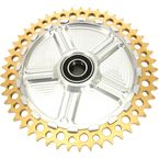 Rear Cush Drive Chain Gold 49 Tooth Sprocket w/Silver Carrier - 9CC49-32
