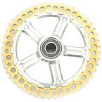 Rear Cush Drive Chain 51 Tooth Gold Sprocket w/Silver Carrier - 9CC51-32