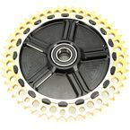 Rear Cush Drive Chain Gold 49 Tooth Sprocket w/Black Carrier - 9CC49-12