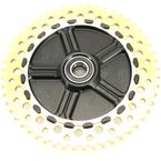 Rear Cush Drive Chain Gold 53 Tooth Sprocket w/Black Carrier - 9CC53-12