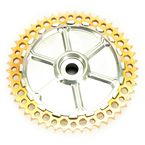 Machined/Gold Universal 49 Tooth Chain Drive Cush Conversion System - UCC49-32