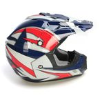 Blue/White/Red FX-17 Lone Star Helmet - 0110-4442