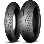 Rear Pilot Power 3 180/55ZR-17 Blackwall Tire - 36816