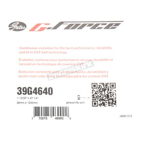 Gates 1.38 in. x 47.38 in. G-Force Drive Belt - 39G4640