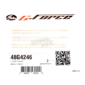 Gates 1.47 in. x 43.63 in. G-Force Drive Belt - 48G4246