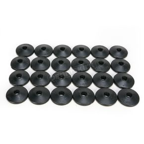 Fast-Trac Air Lite Round Black Backer Plates for 5/16 in. Studs - 208RX-24
