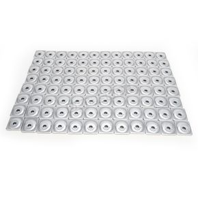 Woodys Angled Aluminum Backing Plates for 5/16 in. Studs - ANG-3775-B