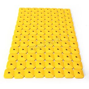 Stud Boy Super Lite +Plus Single Yellow Backing Plates - 2462-P3-YEL
