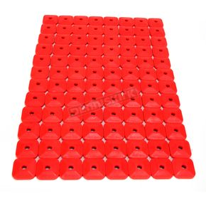 Stud Boy Super Lite +Plus Single Red Backing Plates - 2462-P3-RED