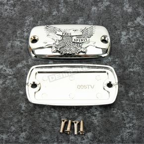 Chrome Front Free Spirit Master Cylinder Covers