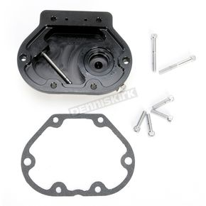 Roland Sands Design Black Ops Nostalgia Hydraulic Clutch Actuated Transmission Cover - 0177-2049-SMB