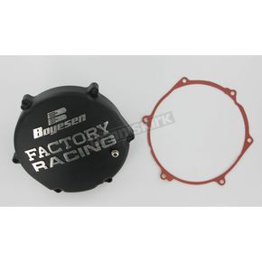 Boyesen Factory Racing Black Clutch Cover - CC-12AB