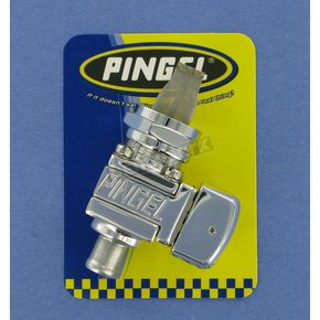 Pingel 22mm Polished Guzzler Fuel Valve - Single 3/8 in. Outlet - GV26GP