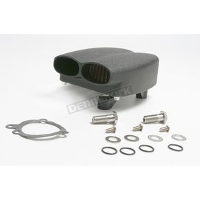 Cycle Visions Mo-Flow Black Billet Air Cleaner for Models w/S&S E or G Carb - CV9006B