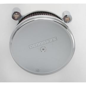 Arlen Ness Chrome Big Sucker Stage II Performance Air Cleaner Kit w/Smooth Steel Cover  - 18-819