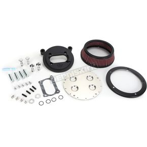 Arlen Ness Black Big Sucker Derby Cover Air Filter Kit w/Pre-Oiled Standard Filter - 18-385