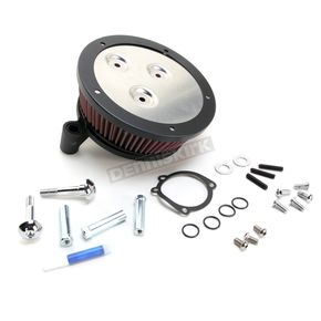 Arlen Ness Black Big Sucker Derby Cover Air Filter Kit w/Pre-Oiled Standard Filter - 18-386