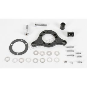 D & M Custom Cycle Black Carb Support Bracket and Breather Kit for CV Carb or Delphi EFI - DM-38-BK
