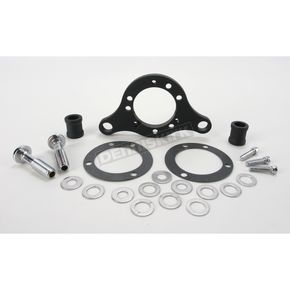 D & M Custom Cycle Wrinkle Black Carb Support Bracket and Breather Kit for CV Carb or Delphi EFI - DM-38-WR