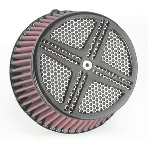 Baron Custom Accessories Black XXX Air Cleaner Assembly - BA-2311-00B