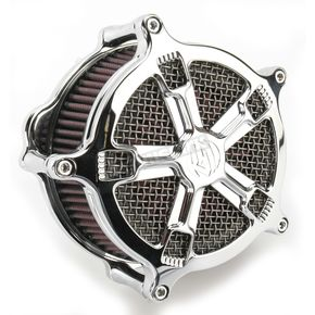 Roland Sands Design Chrome Venturi Turbo Air Cleaner - 0206-2033-CH