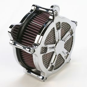 Roland Sands Design Chrome Venturi Turbo Air Cleaner - 0206-2034-CH