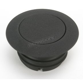 Drag Specialties Black Wrinkle Non-Vented Pop-Up Gas Cap - 0703-0325
