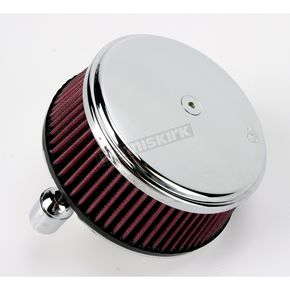 Arlen Ness Chrome Stage I Big Sucker Performance Air Cleaner Kit w/Standard Filter - 18-324