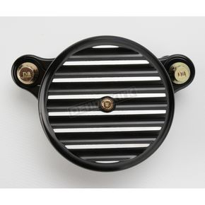 Black Anodized Finned Air Cleaner Assembly - 02-142B
