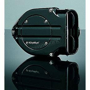 Kuryakyn Hypercharger Blood Groove Design Air Cleaner w/Black Butterflies - 9987
