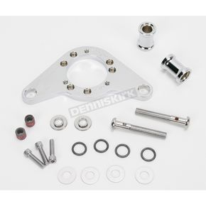 D & M Custom Cycle Chrome Carb Support Bracket and Breather Kit  - DM-52