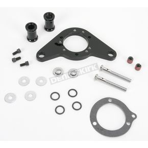D & M Custom Cycle Black Carb Support Bracket and Breather Kit  - DM-53B
