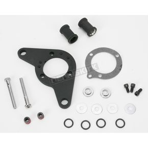 D & M Custom Cycle Wrinkle Black Carb Support Bracket and Breather Kit  - DM-53WR