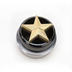 NYC Choppers Brass Nautical Star Spinner Gas Cap - NSBRASSWELD