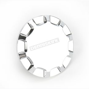 Drag Specialties Chrome Vented Straight-Cut Gas Cap - 0703-0388